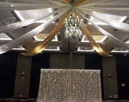 ceiling draping draping and decor event styling co auckland
