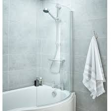 Shower Door 720mm Premier P Shaped Standard Bath Screen Ncs0 6mm Clear Chrome