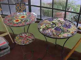 how to make a mosaic table top mosaic table making workshop downtown tucson partnership