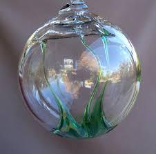 blown glass witch suncatcher furnish