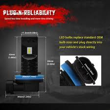 nissan sentra headlight bulb size novsight h8 h9 led headlight bulb for car u2013 novsights