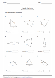 Area And Perimeter Of A Triangle Worksheet All Worksheets Triangle Worksheets Printable Worksheets Guide