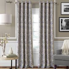Silver And Blue Curtains Julianne Room Darkening Grommet Curtain Panels