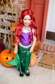Mermaid Halloween Costume Toddler Diy Mermaid Flounder Costumes Unoriginal Mom