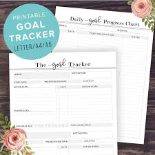 printable planner diary goal tracker printable goal planner pages 2016 goals