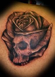 15 best skull and rose tattoo images on pinterest skull rose