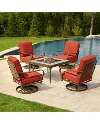 Patio Conversation Sets Sale by Spooktacular Savings On Hampton Bay Oak Cliff 5 Piece Metal Patio