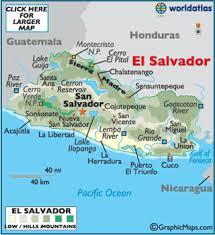 geographical map of guatemala el salvador map geography of el salvador map of el salvador