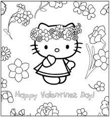 happy valentines kitty coloring kids