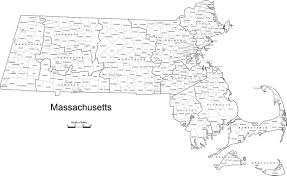 Map Of Massachusetts by Massachusetts Hockey Districts