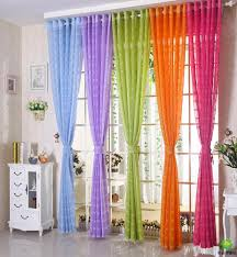 Orange And White Curtains Free Shipping Multicolors Sheer Curtain White Purple Blue Green