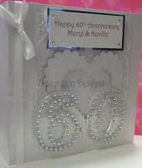 60th anniversary card with acrylic numbers handmade cards