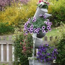 Flower Planter Ideas by Unique Flower Pot Or Container Ideas Water Feature Garden Ideas