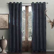 Blue Grey Curtains Modern Solid Blue Grey Curtain Curtains Decor Homedecor