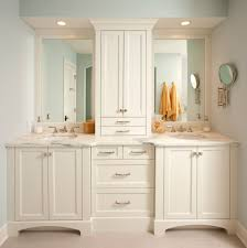 cabinet between sink bathroom traditional with open concept