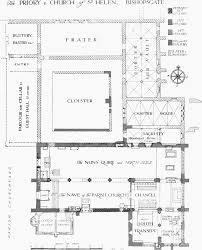 Ground Plan by Plate 123 St Helen U0027s Bishopsgate Historical Ground Plan Of