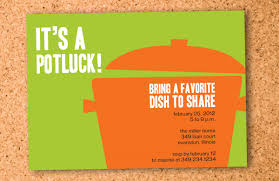 office potluck invitation wording