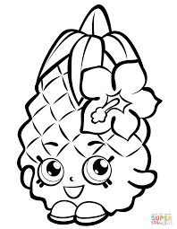 pineapple coloring page free printable fruits pineapples pages