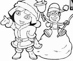 dora boots christmas coloring dora games