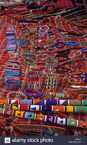 africa kenya maasai beadwork and crafts stock photo royalty