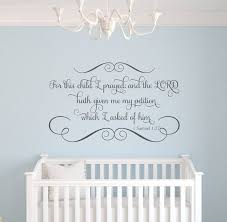 Scripture Wall Decals For Nursery Items Similar To For This Child I Prayed Scripture Vinyl Wall