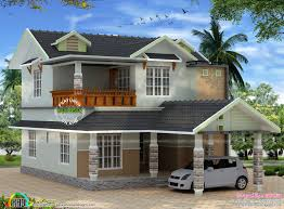 sloping roof home design by bari max kerala home design and