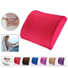 memory foam seat chair lumbar back support cushion pillow for