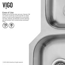 30 inch undermount double kitchen sink vigo 30 inch undermount 70 30 double bowl 18 gauge stainless steel