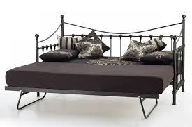 serene marseilles 3ft single black metal day bed frame with under