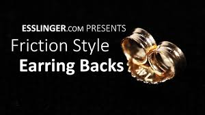 gold earring backs friction style earring backs replacement gold earring back