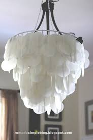 How To Make Chandelier At Home Decor How To Make Lighting Home Interior Ideas With Capiz Shell