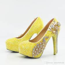 wedding shoes qld 5 8 11 14cm cinderella shoes yellow fully beaded flower tassel
