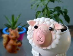 my sheep planter and a chili pepper plant an artsy appetite