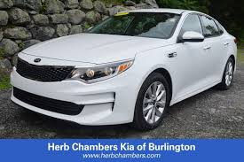 certified pre owned 2016 kia optima for sale in burlington ma