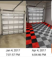 Racedeck Garage Flooring Cleaning by Before And After Customer Photos