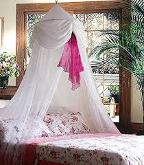canopy for beds amazon com white pink chiffon furbelow princess bed canopy by sid