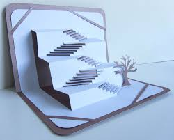 Mauve Home Decor Stairs 2 Success Greeting Card 3d Pop Up Home Decor Origamic