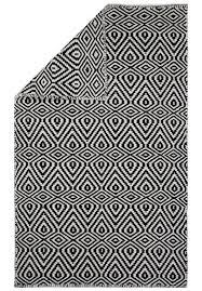 Black And White Striped Outdoor Rug by Wild Diamonds Eco Cotton Rug Black White Hook U0026 Loom