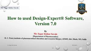 design expert 7 user manual how to used design expert software version 7 0 youtube
