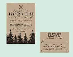 forest wedding invitations rustic evergreen wedding invitation diy printable rustic