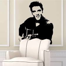 poster diy elvis presley playing guitar wall decal vinyl removable poster diy elvis presley playing guitar wall decal vinyl removable classic silhouette art home decor living room stickers murals in wall stickers from home