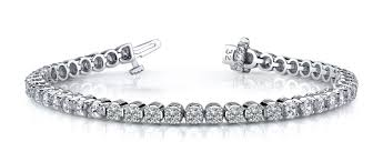 diamond bracelet jewelry images Sb871 round setting 4 prong diamond bracelet aaron son jpg