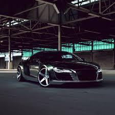 Audi R8 All Black - audi r8 chrome cw 5 matte black side view ipad air wallpaper