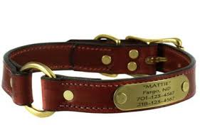 personalized leather collars leads