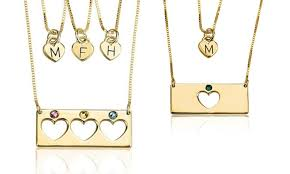 gold mother necklace images Mother daughter necklace set onecklace groupon jpg