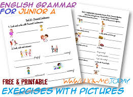 grammar exercises with pictures junior a
