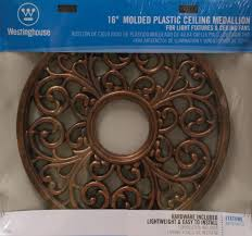 Bronze Ceiling Medallion by Westinghouse Round Parisian Scroll Ceiling Medallion