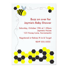 bumble bee baby shower invitations u0026 announcements zazzle co nz