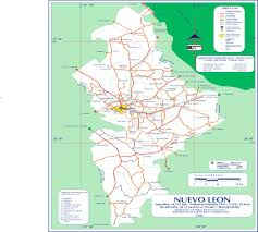 Map Of Michoacan Mexico by Nuevo Leon Mexico Road Map U2022 Mapsof Net