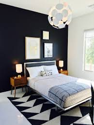 mid century style beds modern black painted king platform bed